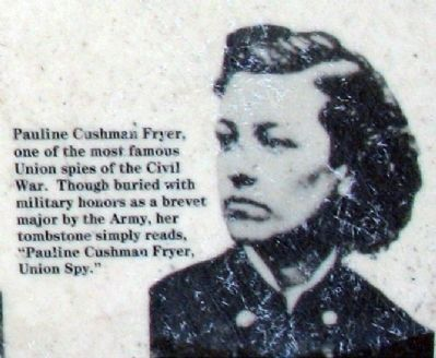 Pauline Cushman Fryer<br> Some notable Americans buried here image. Click for more information.