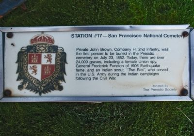 Station #17 — San Francisco National Cemetery image. Click for full size.