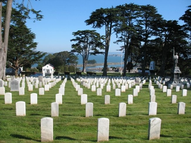 San Francisco National Cemetery image. Click for full size.