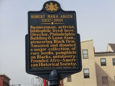 Robert Mara Adger Marker image. Click for full size.