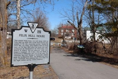 Felix Hull House Marker image. Click for full size.