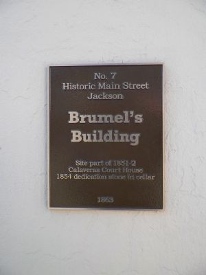Brumel's Building Marker image. Click for full size.