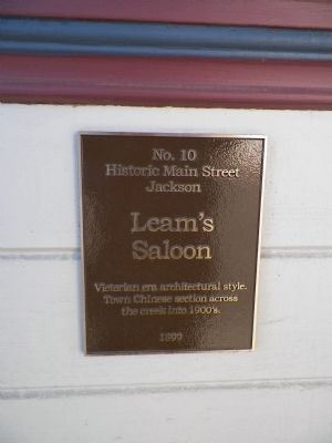 Leam's Saloon Marker image. Click for full size.