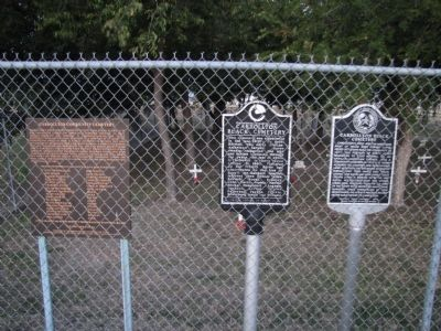 Carrollton Black Cemetery Markers image. Click for full size.