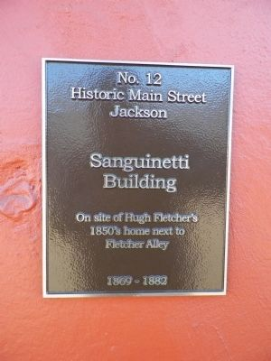 Sanguinetti Building Marker image. Click for full size.