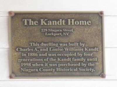 The Kandt Home Marker image. Click for full size.
