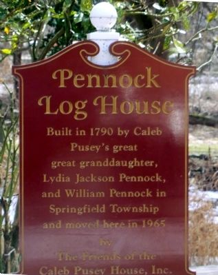 Pennock Log House Marker image. Click for full size.