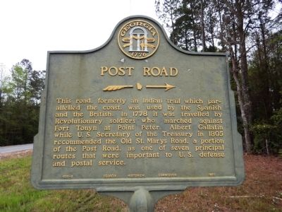 Post Road Marker image. Click for full size.