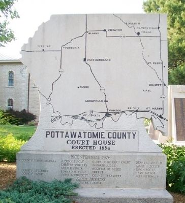 Pottawatomie County Court House Marker image. Click for full size.