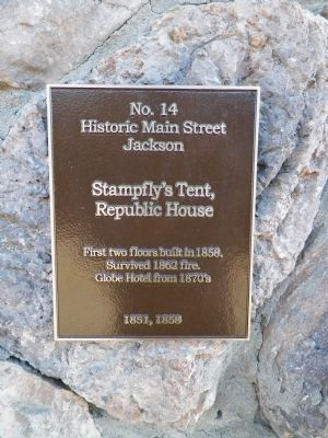 Stampfly's Tent, Republic House Marker image. Click for full size.