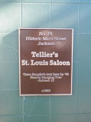 Tellier's St. Louis Saloon Marker image. Click for full size.