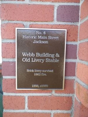 Webb Building & Old Livery Stable Marker image. Click for full size.