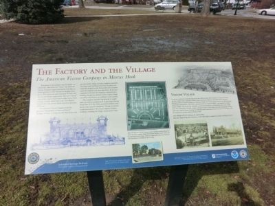 The Factory and the Village Marker image. Click for full size.
