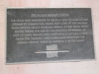 The Salinas Railway Station Marker image. Click for full size.
