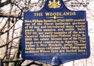 The Woodlands Marker image. Click for full size.
