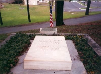 John Augustus Sutter Memorial Marker is located at the head of his tombstone image. Click for full size.