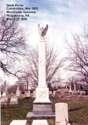 Commodore David Porter Tombstone image. Click for full size.