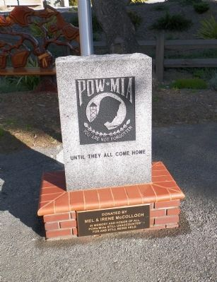 POW - MIA Memorial Flagpole Marker image. Click for full size.