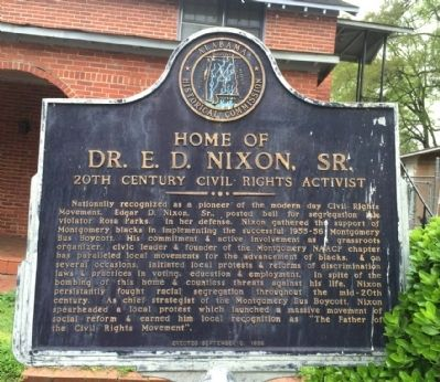 Home of Dr. E. D. Nixon, Sr. Marker image. Click for full size.