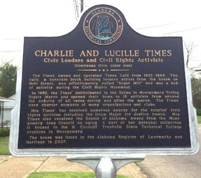 Charlie and Lucille Times Marker (Side 2) image. Click for full size.