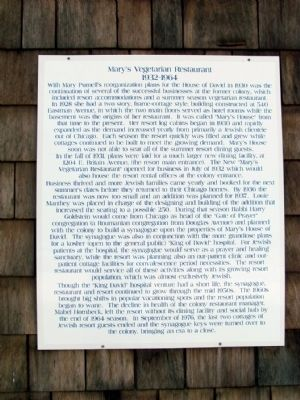 Informational Sign on Mary's Vegetarian Restaurant image. Click for full size.