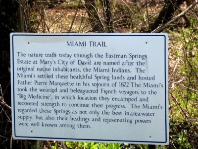 Informational Sign on Miami Trail image. Click for full size.