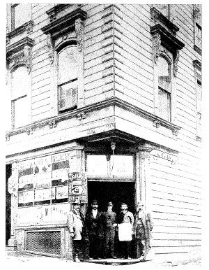 Wagner's Beer Hall circa 1870s, when beer was only 5 cents. image. Click for full size.