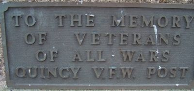 Quincy Ohio Veterans Memorial Marker image. Click for full size.