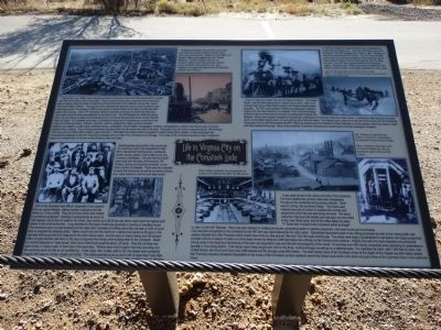 Life in Virginia City on the Comstock Lode Marker image. Click for full size.
