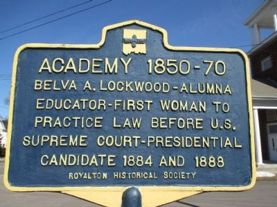 Academy 1850-70 Marker image. Click for full size.