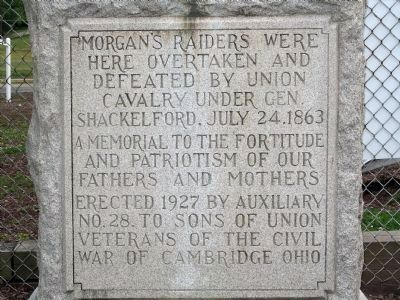 Morgan's Raiders Marker image. Click for full size.