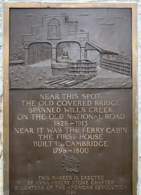 Old Covered Bridge Marker image. Click for full size.