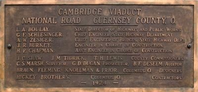 Cambridge Viaduct<br>National Road Guernsey County. O.<br>1924 image. Click for full size.