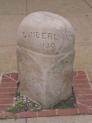 National Road Milestone<br>(Next to the Civil War Monument) image. Click for full size.