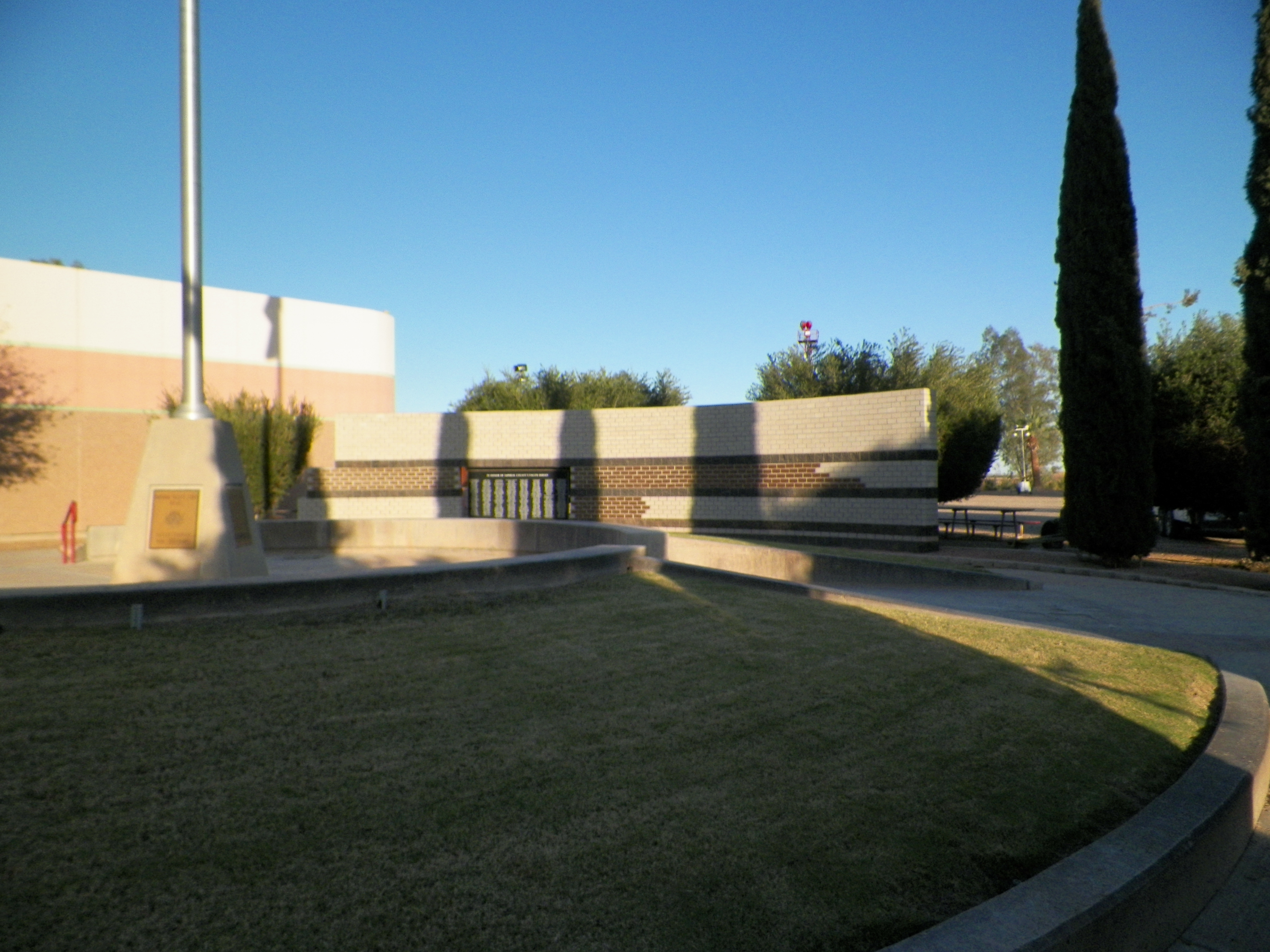 Wide view of the Fallen Heroes Memorial