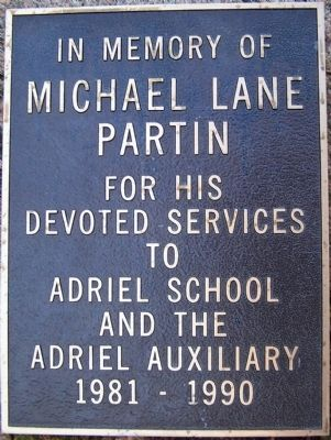 Michael Lane Partin Marker image. Click for full size.