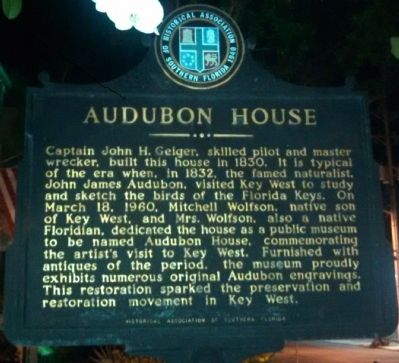 Audubon House Marker image. Click for full size.