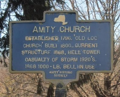 Amity Church Marker image. Click for full size.