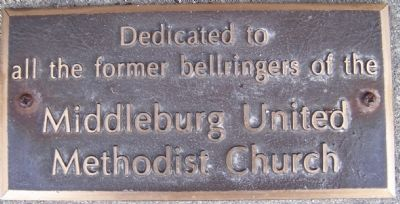 Middleburg United Methodist Church Bell Marker image. Click for full size.