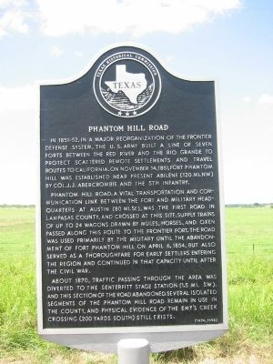 Phantom Hill Road Marker image. Click for full size.