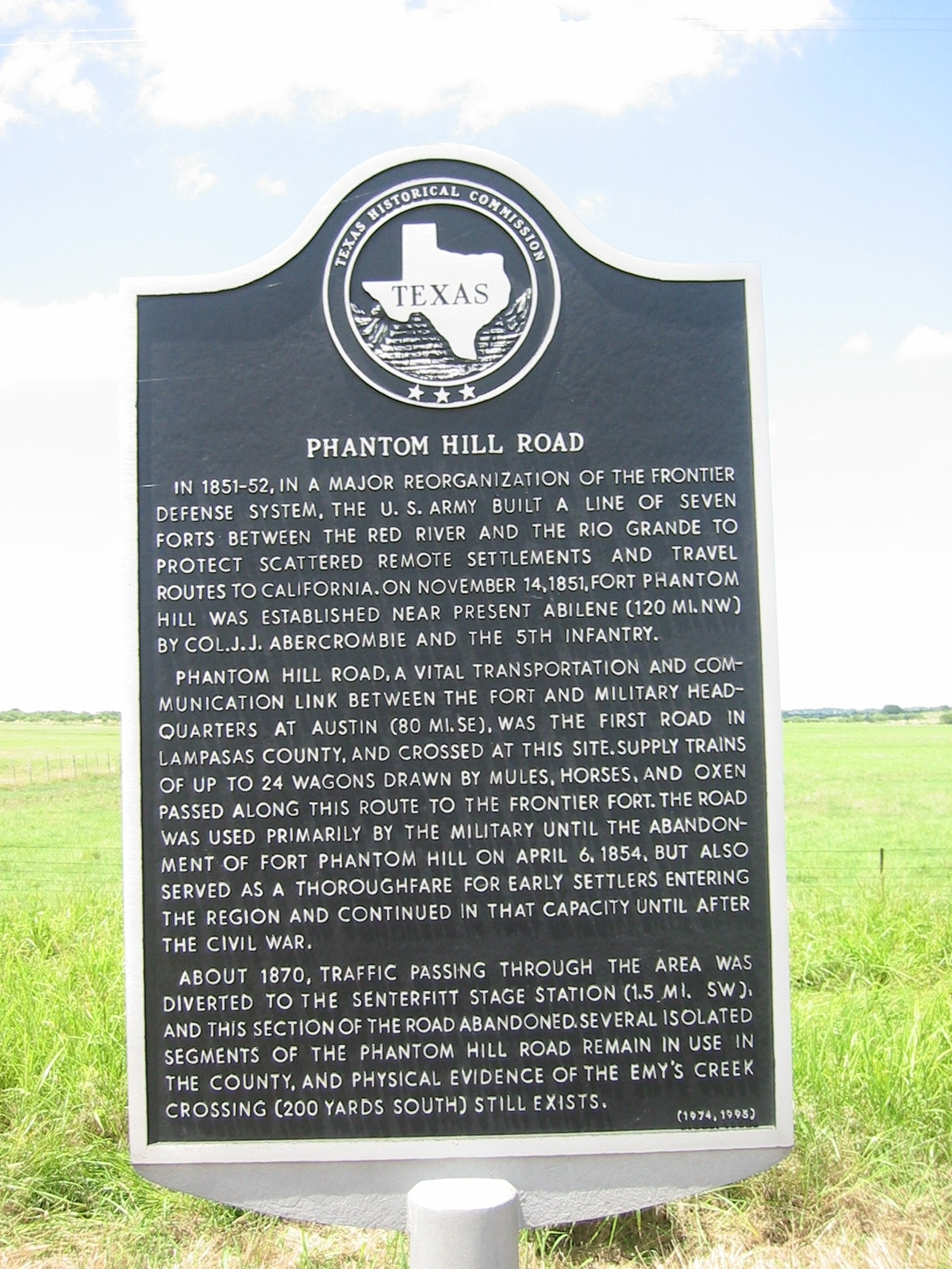 Phantom Hill Road Marker