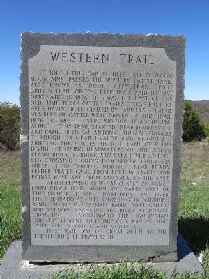 Western Trail Marker image. Click for full size.