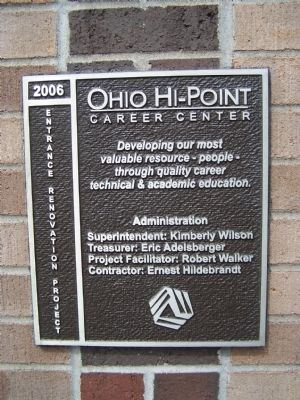 Ohio Hi Point Career Center Marker image. Click for full size.