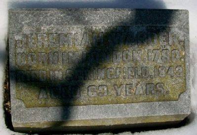 Jeremiah Warder Grave Marker image. Click for full size.