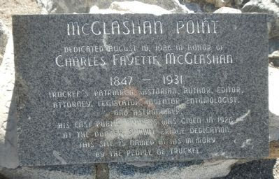McGlashan Point Marker image. Click for full size.