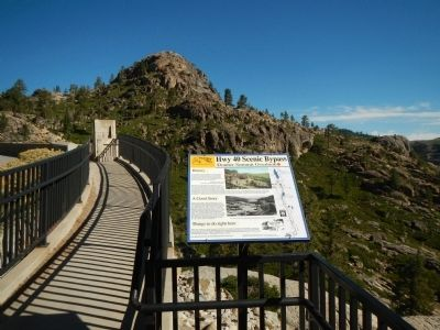 Donner Summit Overlook Marker image. Click for full size.