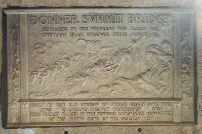 Donner Summit Bridge Marker image. Click for full size.