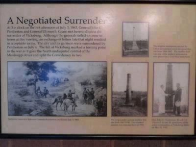 A Negotiated Surrender Marker (moved to Visitor Center) image. Click for full size.