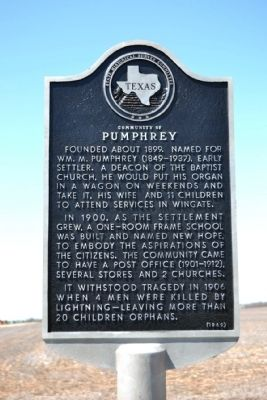 Community of Pumphrey Marker image. Click for full size.