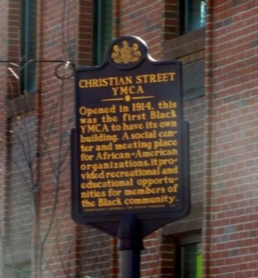 Christian Street YMCA Marker image. Click for full size.